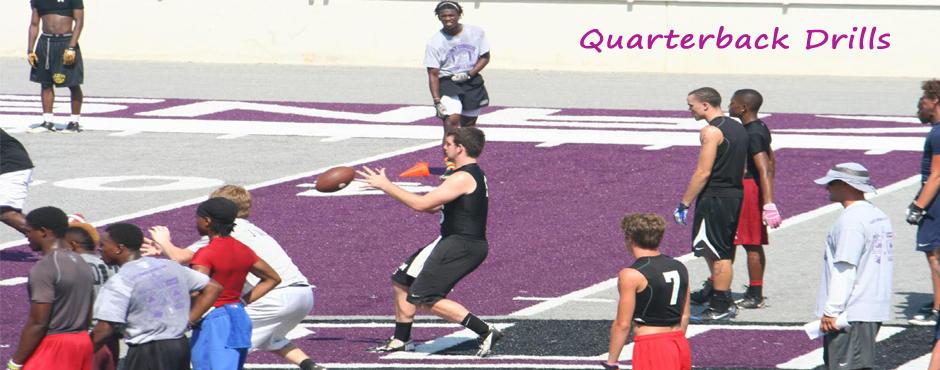 Tanner Ramsey doing Quarterback drills