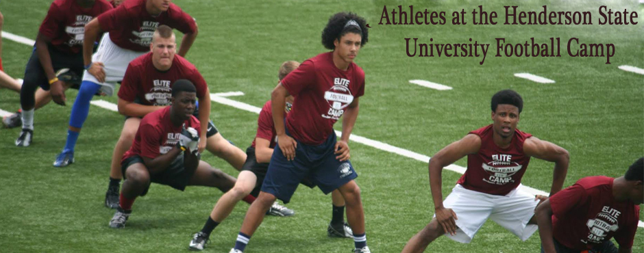JC doing his 40 yard dash at Henderson State University