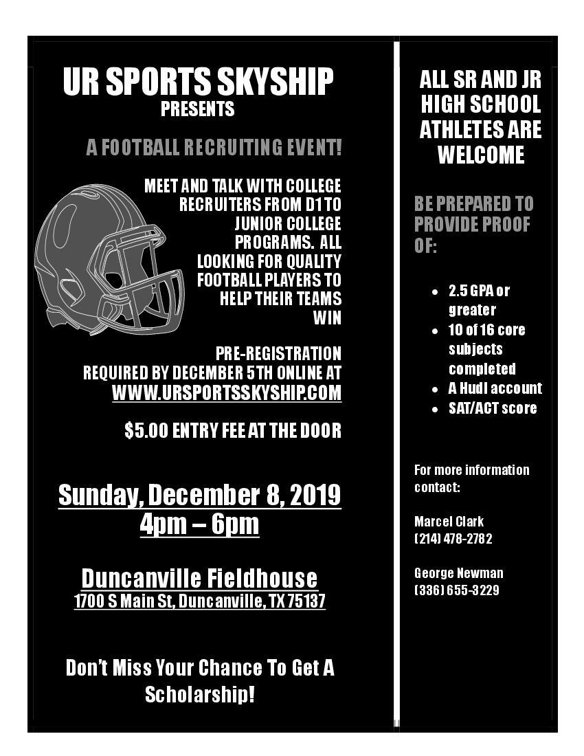 A Football Recruiting Event